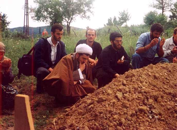 مراسم تشيع جنازه ي شهيد آوديچ